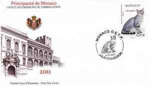 1er timbre sur les Mau Egyptien Monaco 2011
